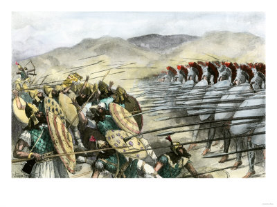 Greek Army In Battle